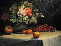 Still Life_Flower_Oil on Canvas
