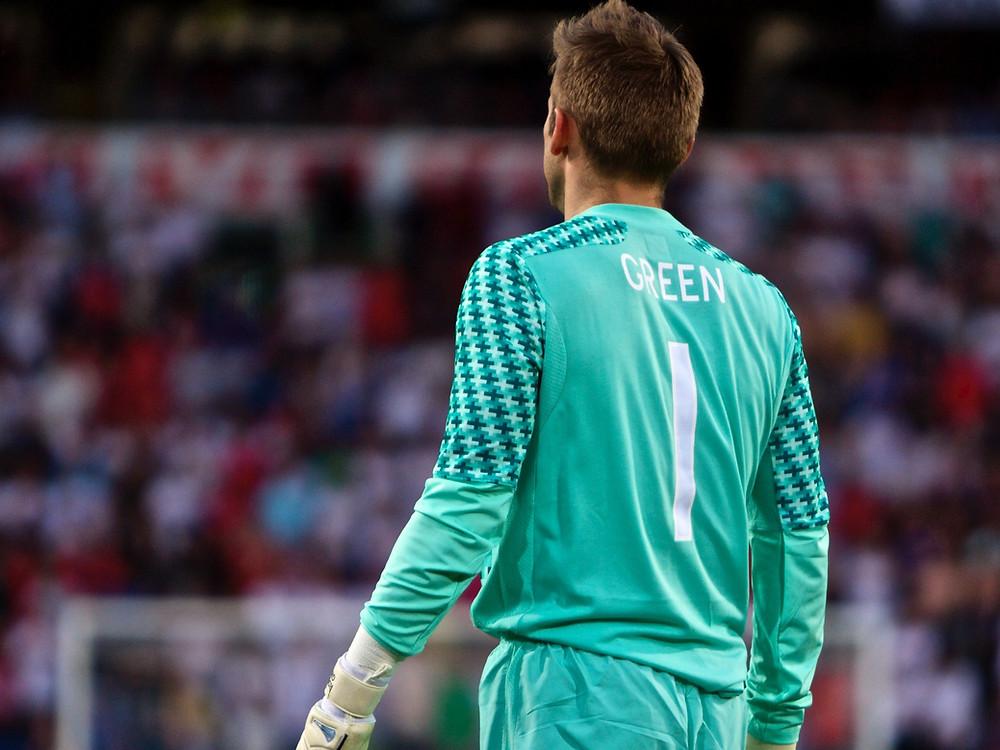 Rob Green playing for England vs Norway. Photo: Flickr/John Christian Fjellestad