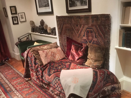 Photo Friday: Sigmund Freud's couch and his office near Finchley Road