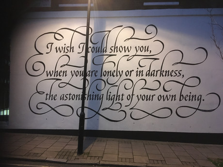 Found in Clerkenwell:14th century poem of hope