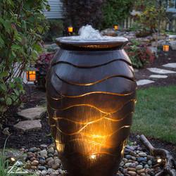 Medium Scalloped Urn Landscape Fountain