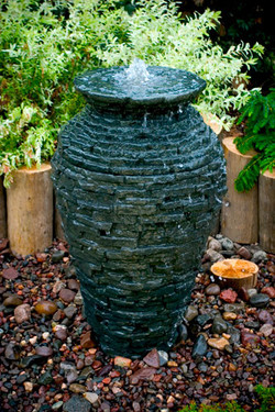 Small Stacked Slate Urn Fountain Kit 2