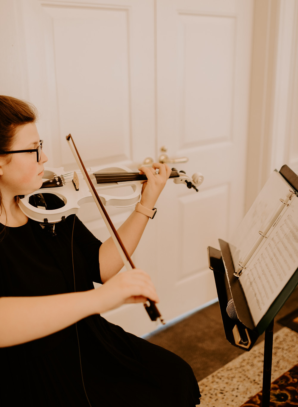 An electric violinist performing in Jacksonville, Florida.