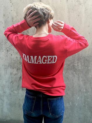 """Jules Fischer: """"DAMAGED"""" Sweatshirt (MERCH 001)"""