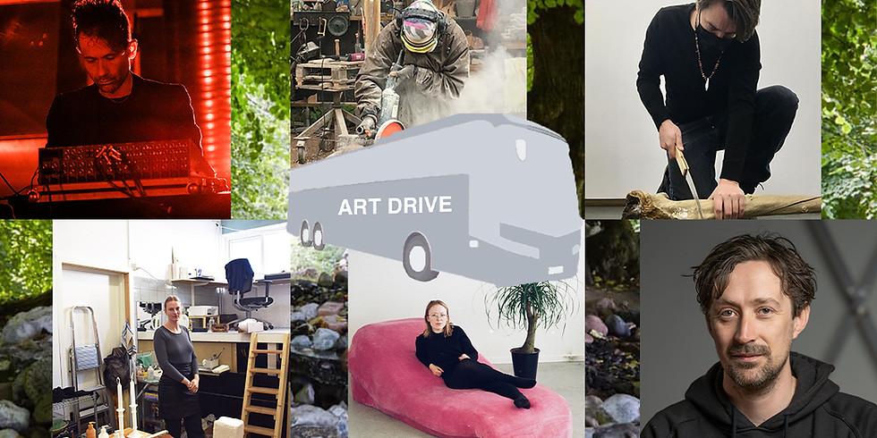 ART DRIVE # 3:  JACOB KIRKEGAARD, ANDREAS OXENVAD, SISKA KATRINE JØRGENSEN, OLGA BENEDICTE M.FL.