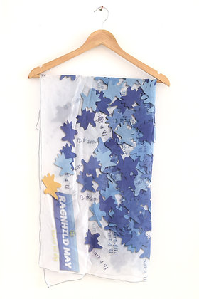 "Ragnhild May: ""Art4u"" silke tørklæde (MERCH 011)"