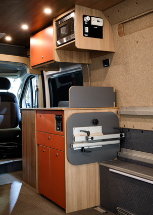 Galley with Microwave and Lagun Table Storage