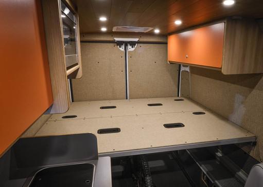 Bed Platform & Upper Storage Cabinets