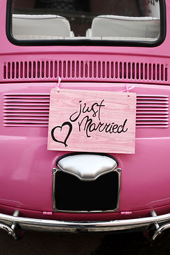 Just married wedding sign for car or dec