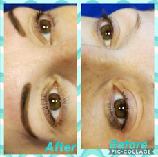Henna brows and lash lift and tint