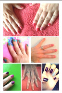 Nails done by me with nail art