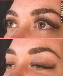 Half set lashes and ultimate brows