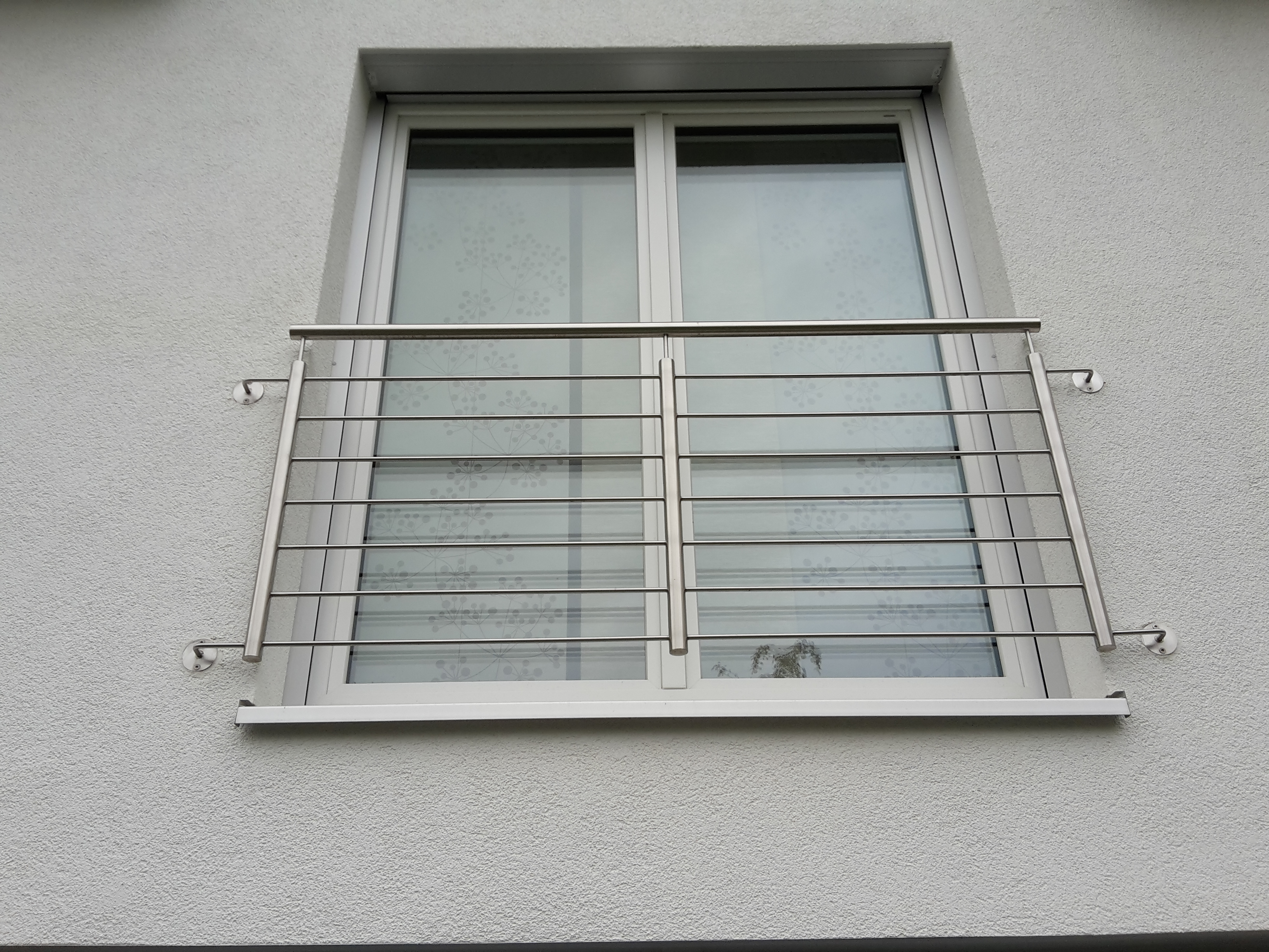 Fenstergitter Edelstahl waagrecht