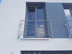 Fenstergitter Edelstahl geschwungen