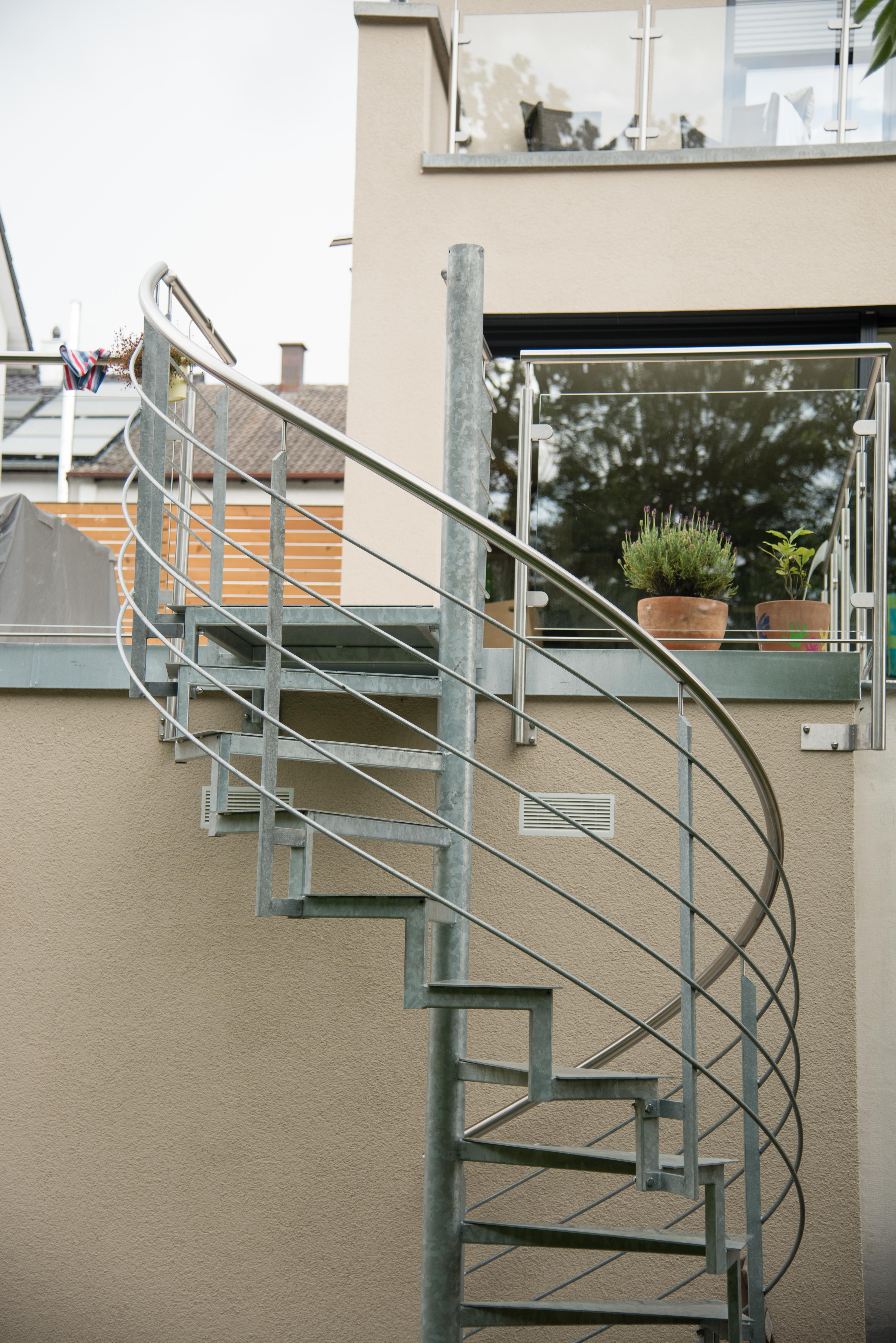 Spindel Treppe verzinkt