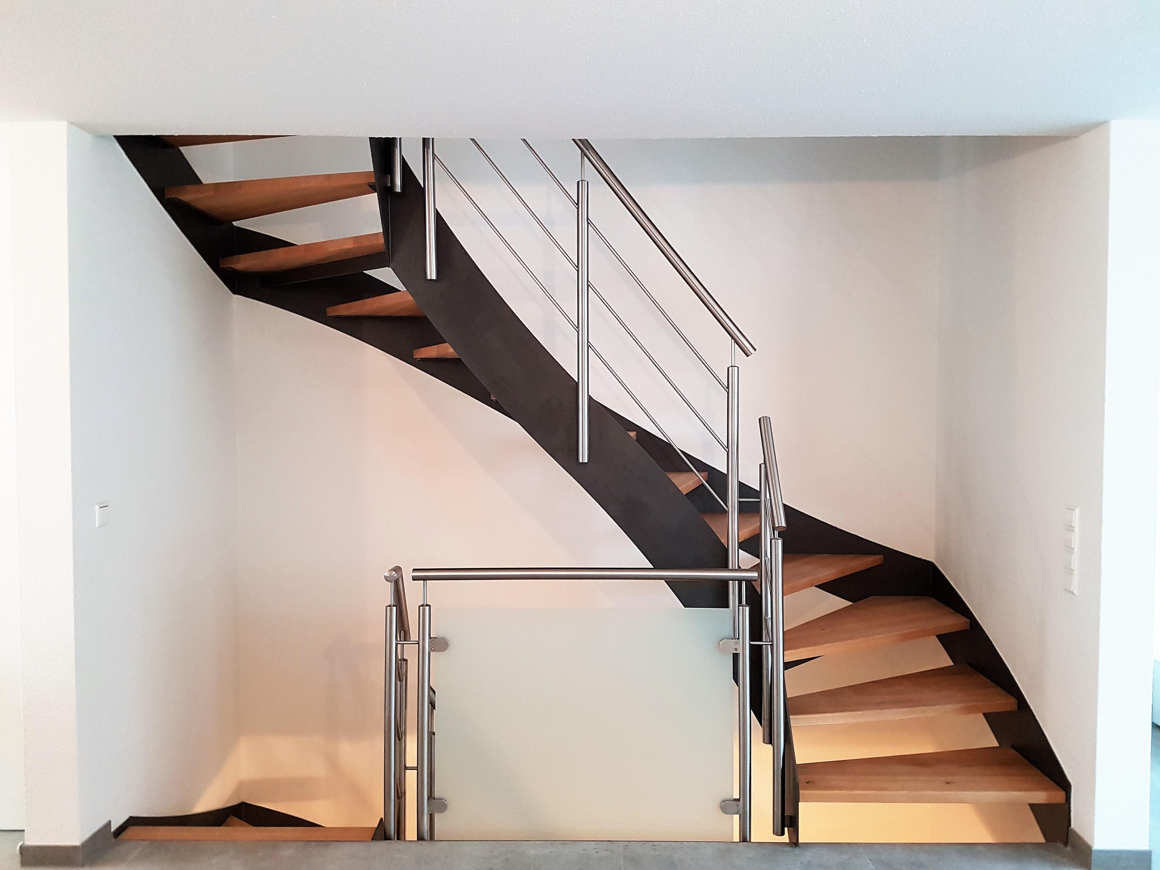 Flachstahl Treppe