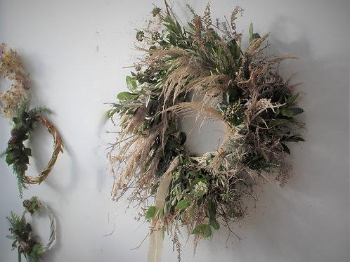 Fresh Cornish nest wreath large