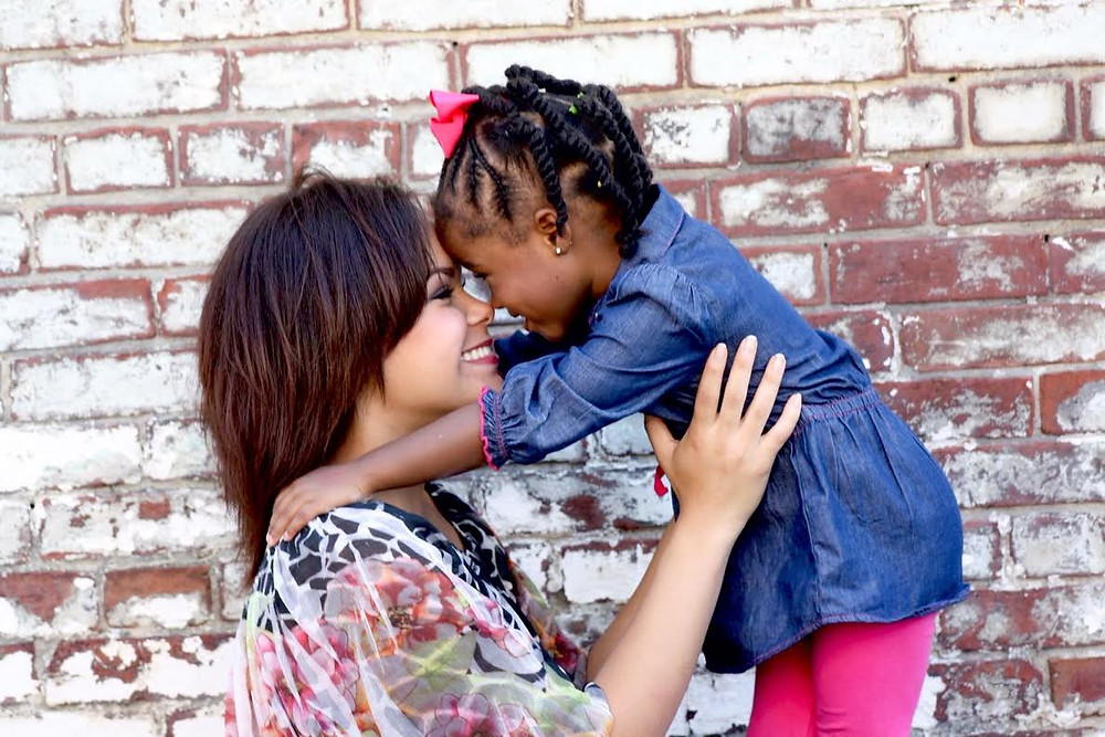 Dominique Caminos and her daughter, Aaliyah.