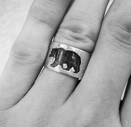 Bear Thick Band Ring