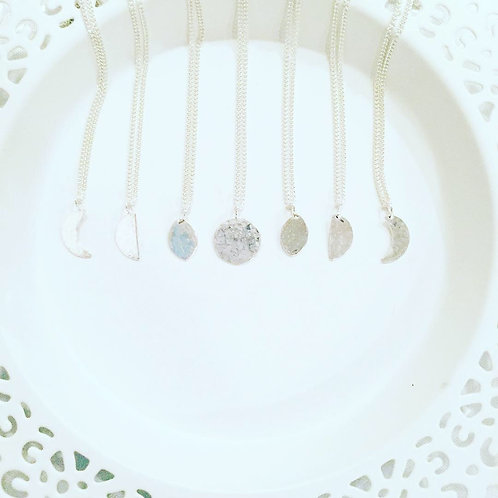 Individual Moon Phase Necklace