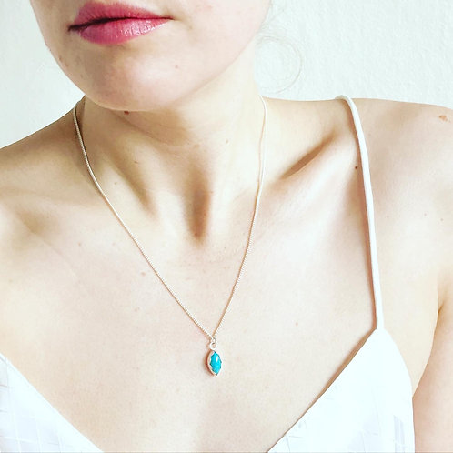 Turquoise Marquis Necklace