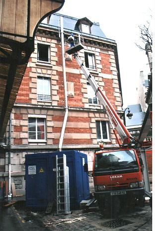 Conteneur chaufferie gaz Pompier de Paris