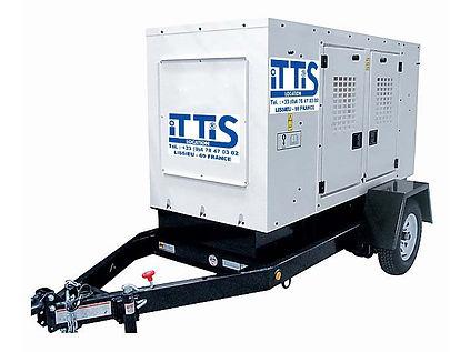 ITTIS Groupe életrogène remorque 1 essieux