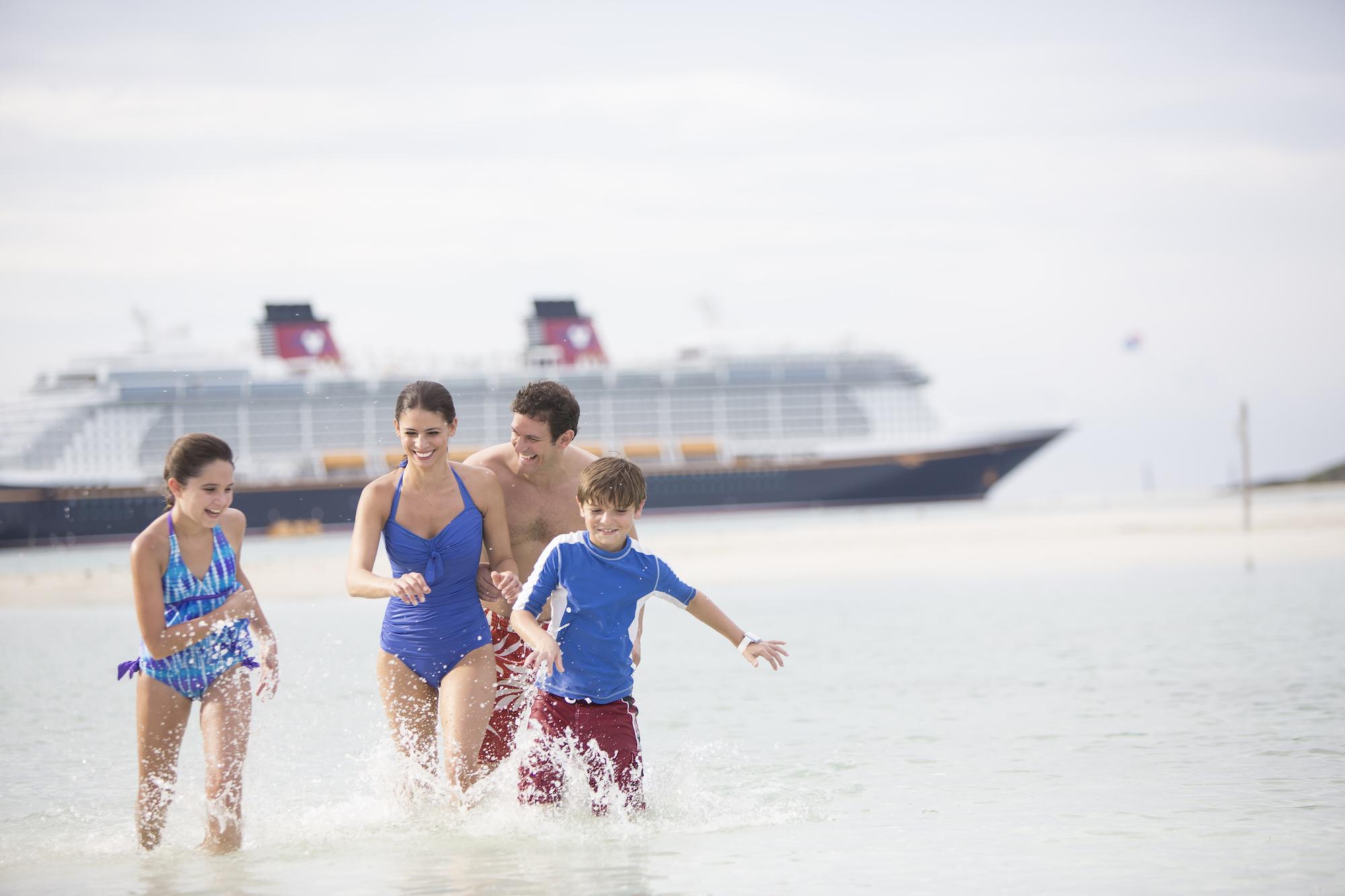 Family playing on Disney Cruise Ship
