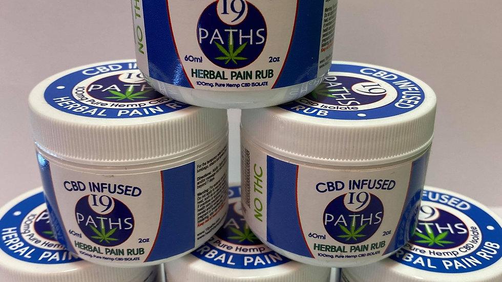 19 PATHS CBD HERBAL PAIN RUB (100mg CBD)