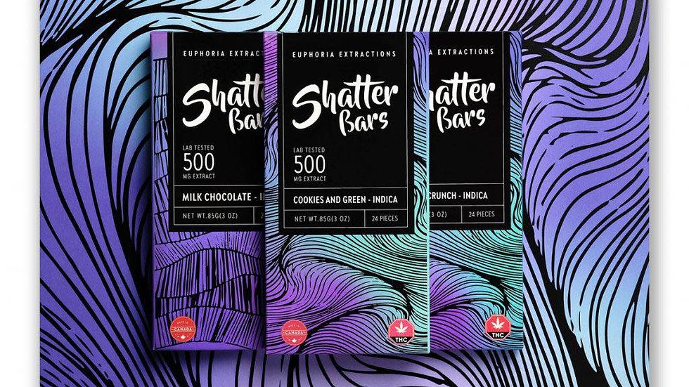 Eu4ia Indica Shatter Bar - 500mg THC