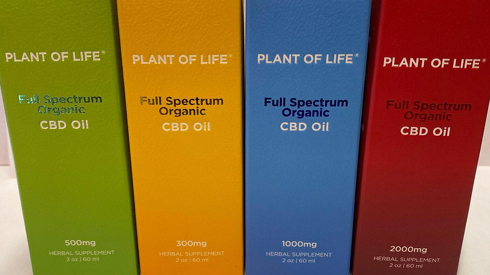 PLANT OF LIFE FULL SPECTUM CBD (1000mg)