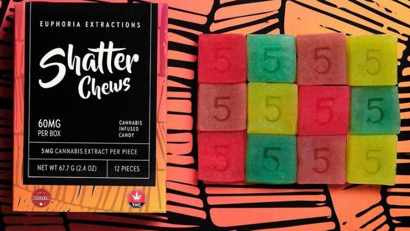 Eu4ia Sativa Shatter Chews - 60mg THC