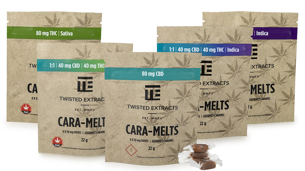 Twisted Extracts Caramelts - 80mg THC