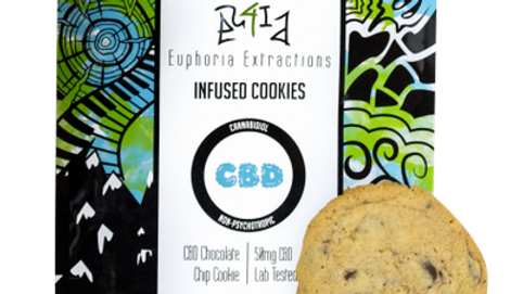 Eu4ia Chocolate Chip Cookie - 100mg CBD