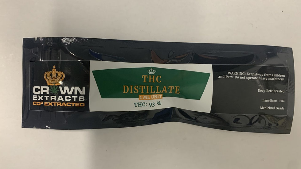 Crown Extracts THC Distillate 1ML