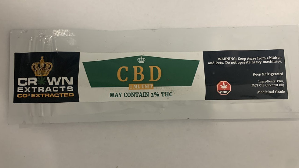 Crown Extracts CBD Distillate 1ML