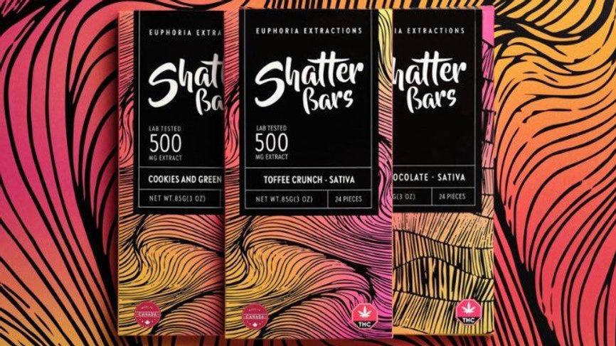 Eu4ia Sativa Shatter Bar - 500mg THC