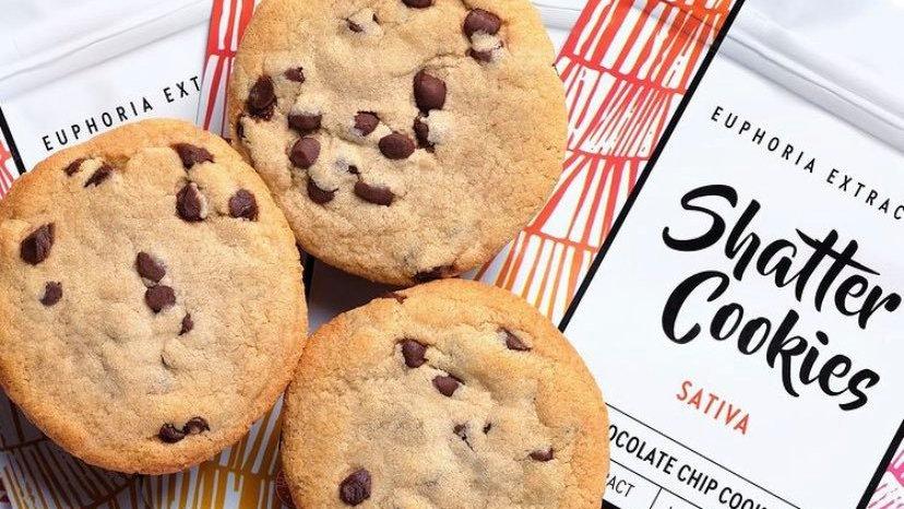 Eu4ia Sativa Chocolate Chip Cookie - 100mg THC