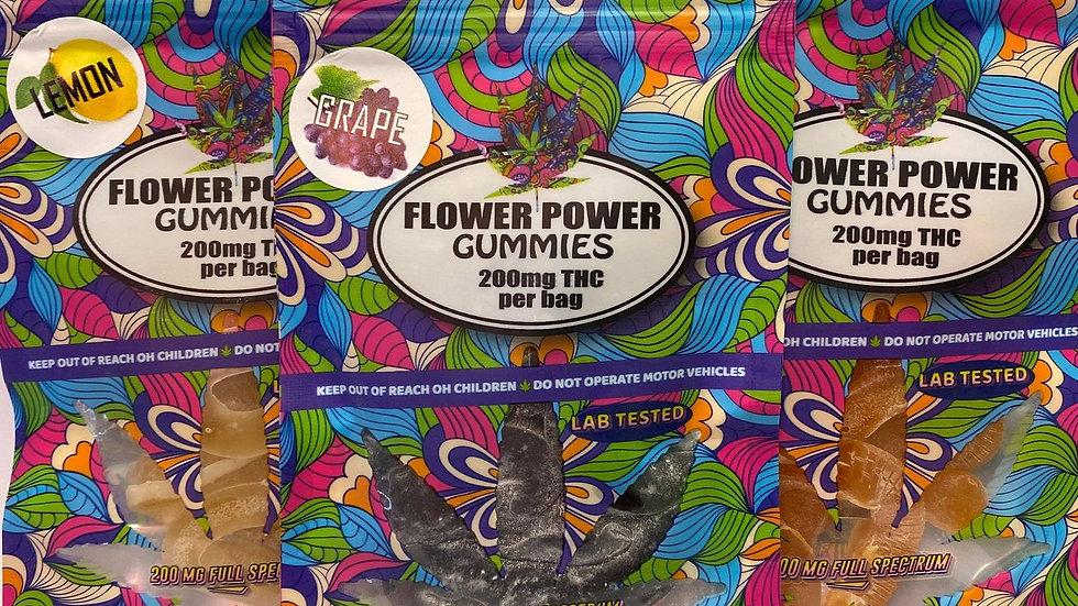 Flower Power Gummy Worms - 200mg THC