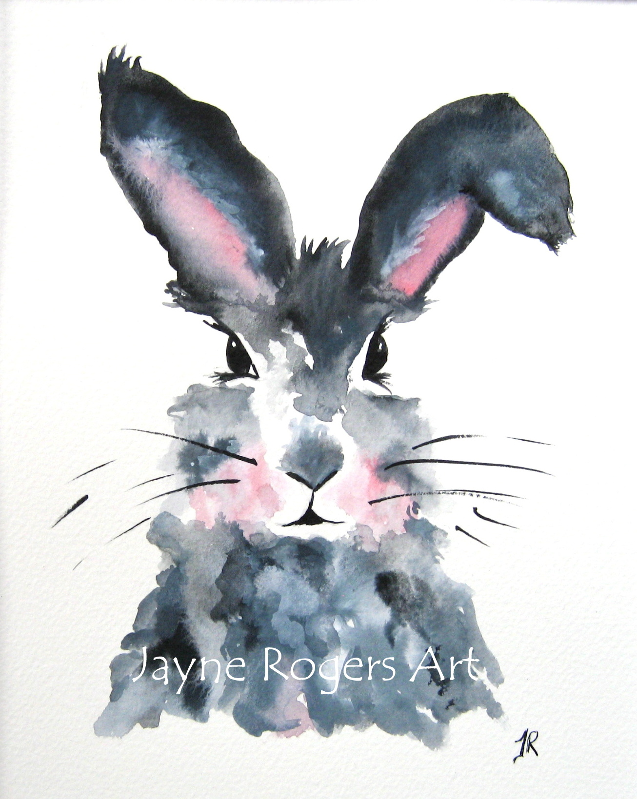 Blossom Hare Animal Painting.