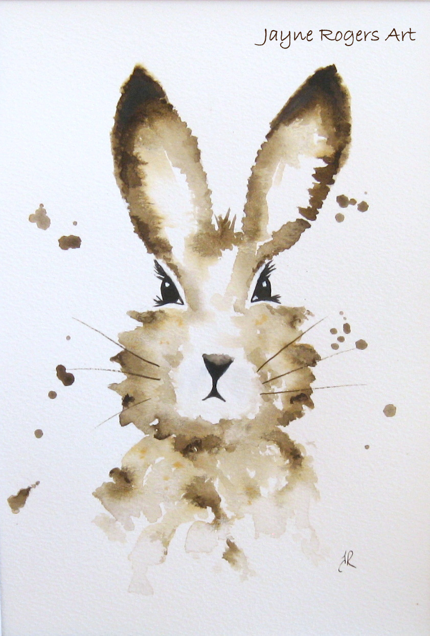 Mocha Brown Hare Painting.