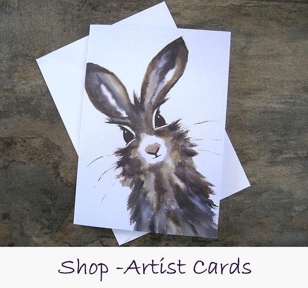 A5 blank artist cards by Jayne Rogers Art.