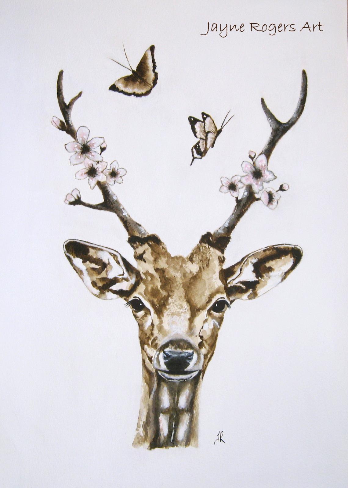 Sepia Blossom Deer.