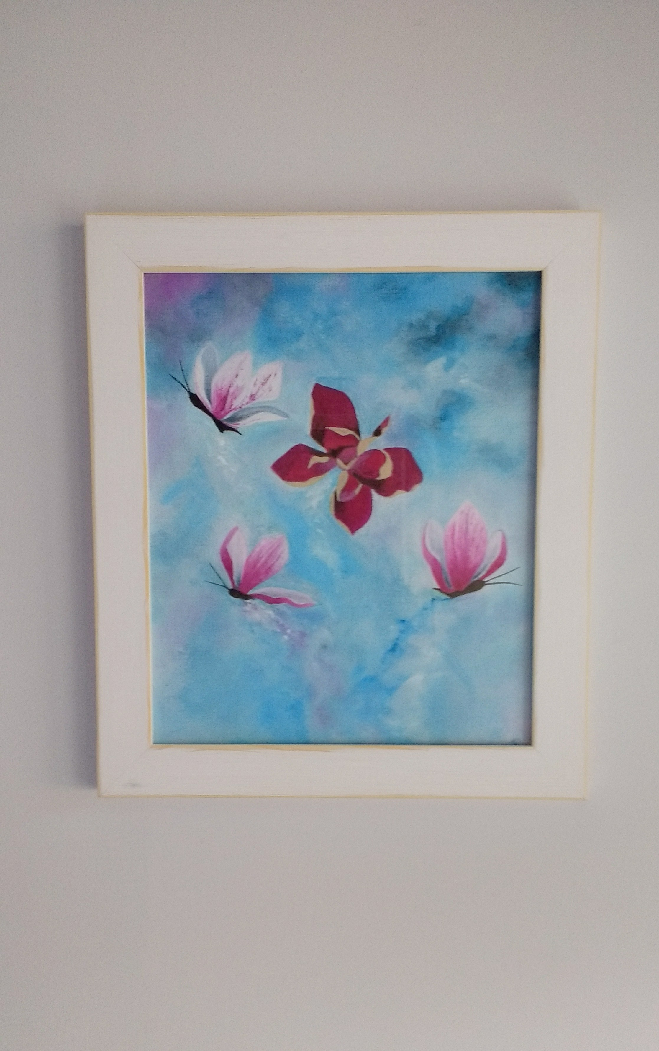 Butterfly Flowers Painting