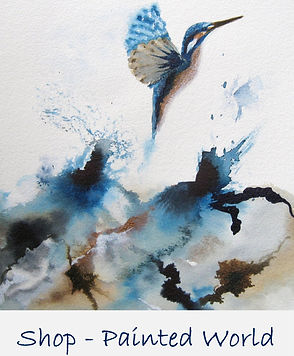 Abstract Landscape paintings by Jayne Rogers Art.