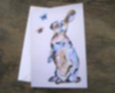 A5 artist card. Hare card.