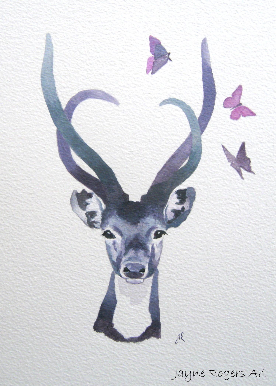 Sika Deer Painting.