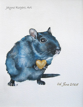 Rat painting. Wedding anniversary gift.