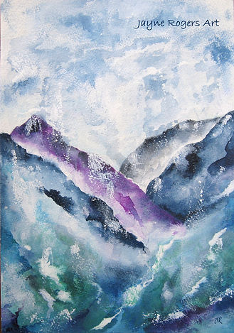 Mountain landscape painting.