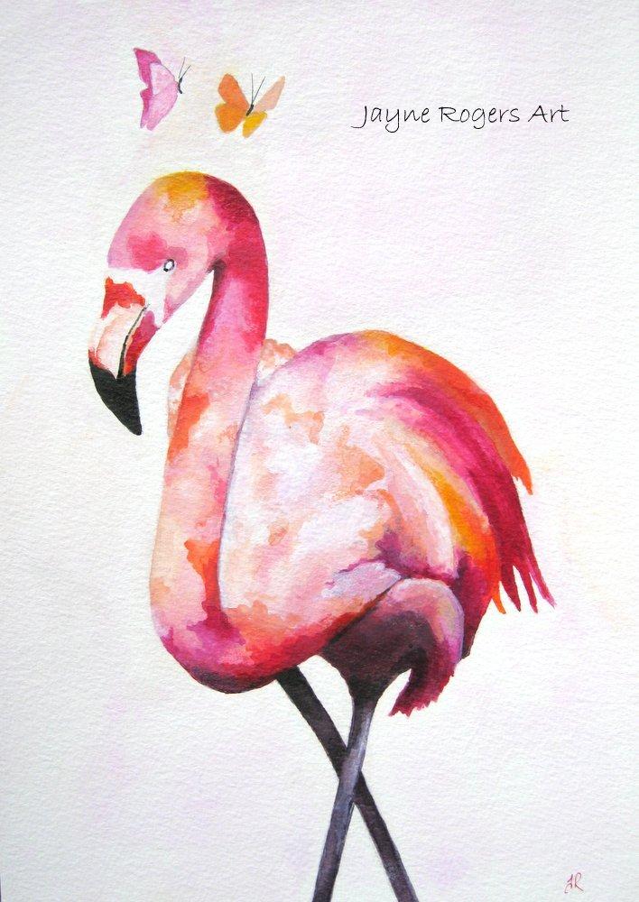 Passion Flamingo Painting.